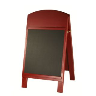 Hardwood A-Board with Chalkboard